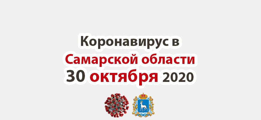 Коронавирус в Самарской области 30 октября 2020