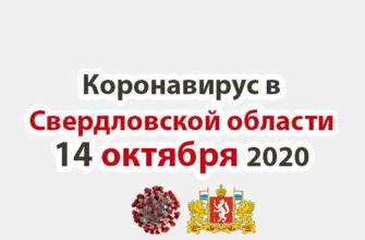Коронавирус в Свердловской области на 14 октября 2020 года