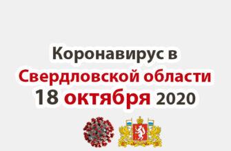 Коронавирус в Свердловской области на 18 октября 2020 года