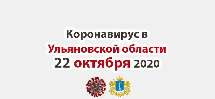 Коронавирус в Ульяновской области на 22 октября 2020 года