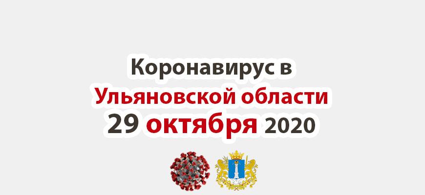Коронавирус в Ульяновской области 29 октября 2020