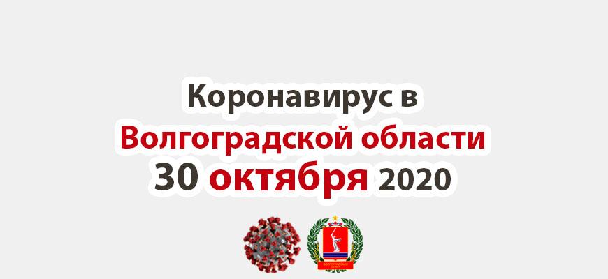 Коронавирус в Волгоградской области 30 октября 2020