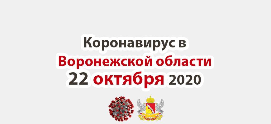 Коронавирус в Воронежской области на 22 октября 2020 года