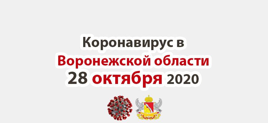Коронавирус в Воронежской области на 28 октября 2020 года