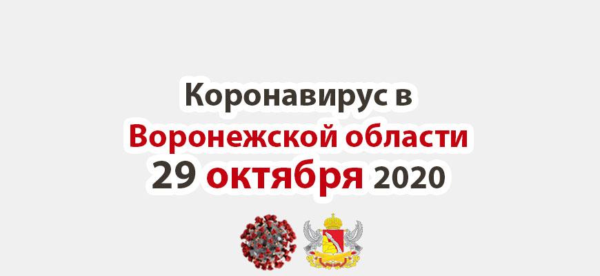 Коронавирус в Воронежской области на 29 октября 2020 года