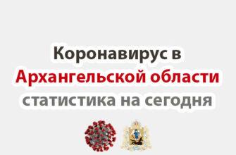 Коронавирус в Архангельской области статистика на сегодня