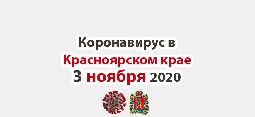 Коронавирус в Красноярском крае на 3 ноября 2020 года