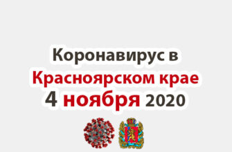 Коронавирус в Красноярском крае на 4 ноября 2020 года