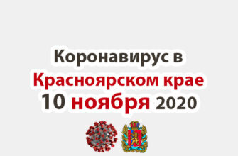 Коронавирус в Красноярском крае на 6 ноября 2020 годаКоронавирус в Красноярском крае на 10 ноября 2020 года