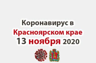 Коронавирус в Красноярском крае на 6 ноября 2020 годаКоронавирус в Красноярском крае на 13 ноября 2020 года