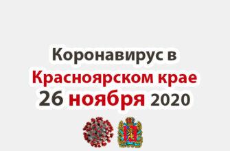 Коронавирус в Красноярском крае на 6 ноября 2020 годаКоронавирус в Красноярском крае на 26 ноября 2020 года