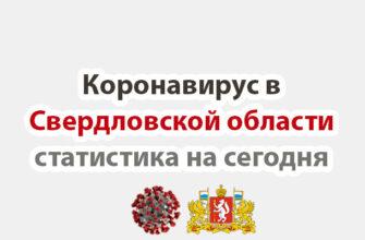 Коронавирус в Свердловской области статистика на сегодня