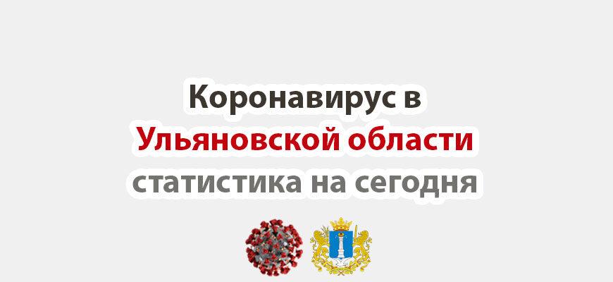 Коронавирус в Ульяновской области статистика на сегодня