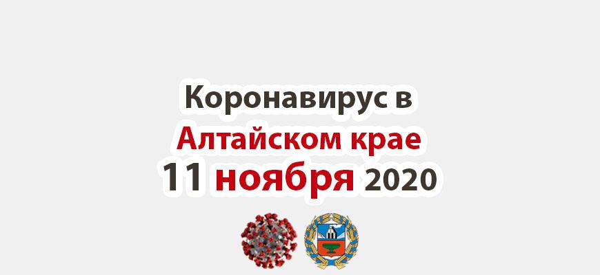 Коронавирус в Алтайском крае на 11 ноября 2020 года