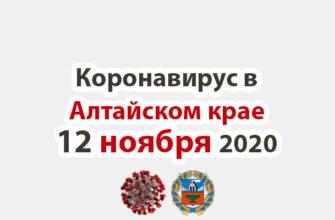 Коронавирус в Алтайском крае на 12 ноября 2020 года