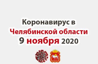 Коронавирус в Челябинской области 9 ноября 2020
