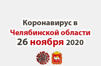 Коронавирус в Челябинской области 26 ноября 2020