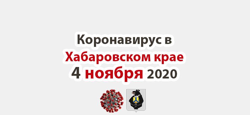 Коронавирус в Хабаровском крае 4 ноября 2020