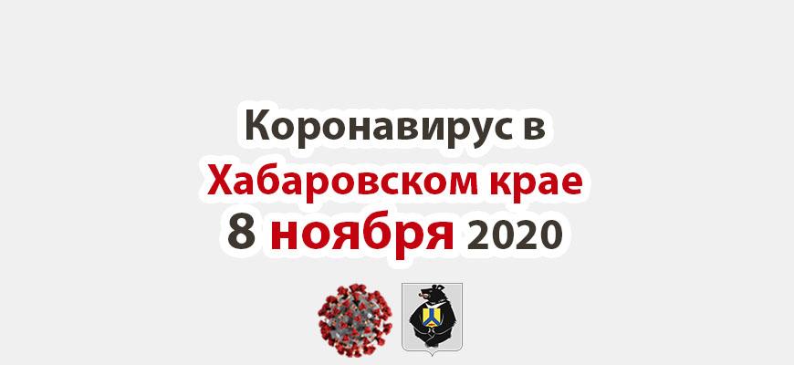 Коронавирус в Хабаровском крае 8 ноября 2020