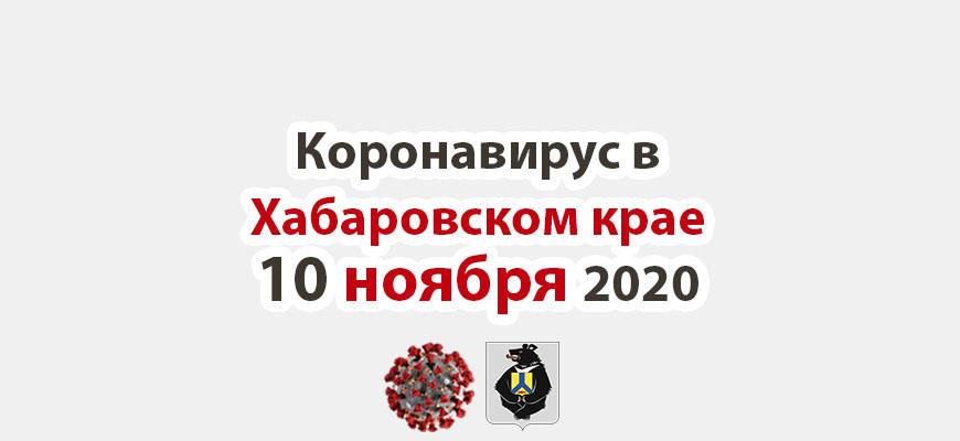 Коронавирус в Хабаровском крае 10 ноября 2020