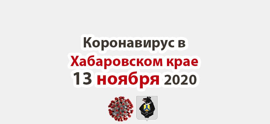 Коронавирус в Хабаровском крае 13 ноября 2020