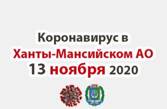 Коронавирус в Ханты-Мансийском АО 13 ноября 2020