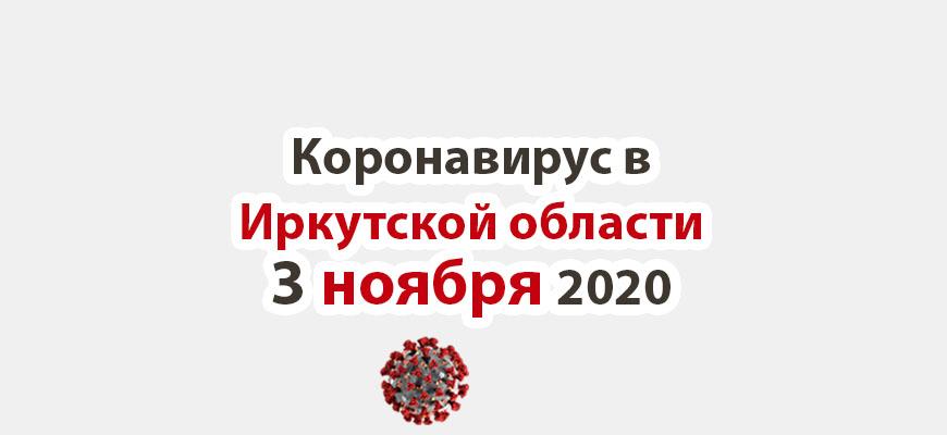 Коронавирус в Иркутской области на 3 ноября 2020 года