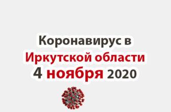 Коронавирус в Иркутской области на 4 ноября 2020 года