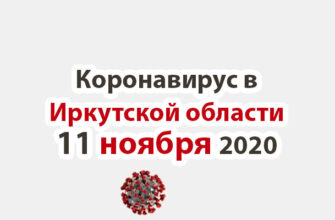 Коронавирус в Иркутской области на 11 ноября 2020 года