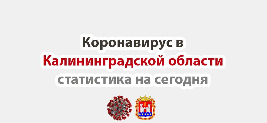 Коронавирус в Калининградской области на сегодня