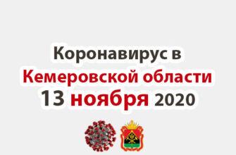 Коронавирус в Кемеровская области 13 ноября 2020
