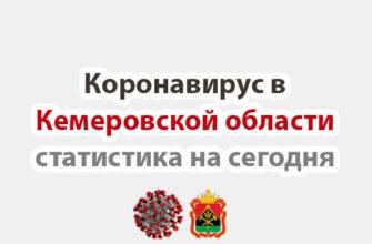 Коронавирус в Кемеровская области статистика на сегодня