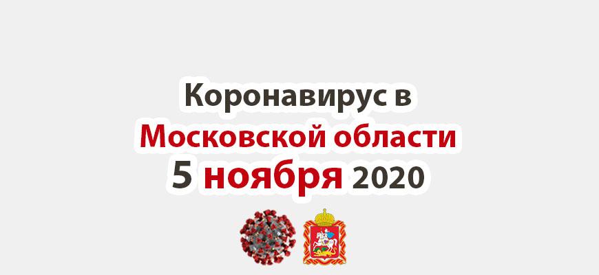 Коронавирус в Московской области на 5 ноября 2020 года
