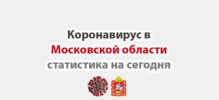 Коронавирус в Московской области статистика на сегодня