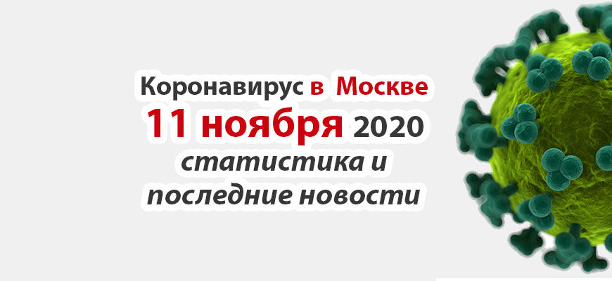 Коронавирус в Москве на 11 ноября 2020 года