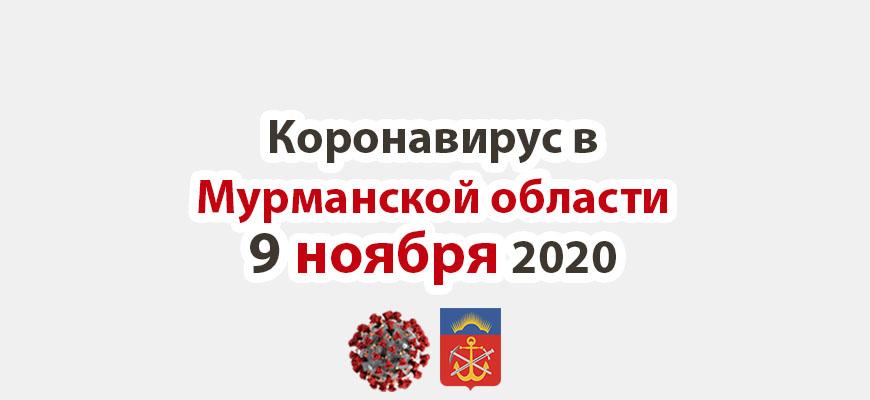 Коронавирус в Мурманской области 9 ноября 2020