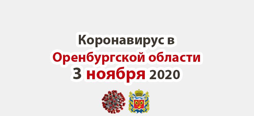 Коронавирус в Оренбургской области 3 ноября 2020