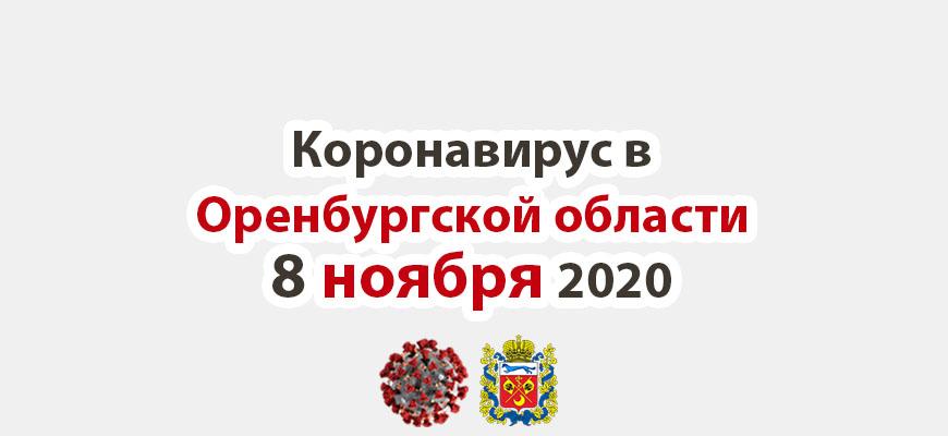 Коронавирус в Оренбургской области 8 ноября 2020