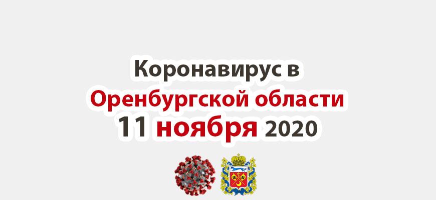 Коронавирус в Оренбургской области 11 ноября 2020