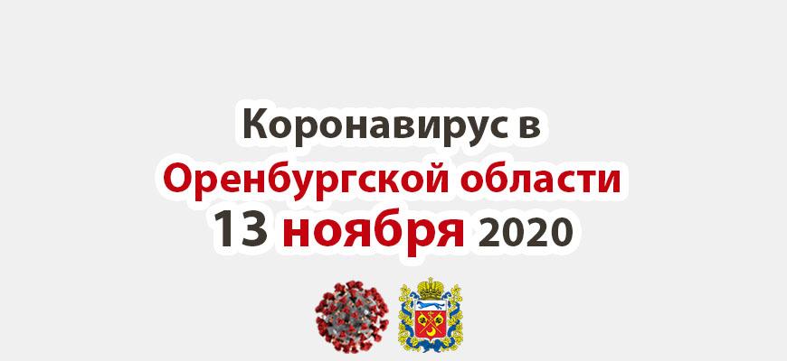 Коронавирус в Оренбургской области 13 ноября 2020