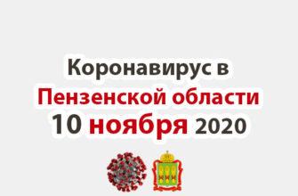 Коронавирус в Пензенской области 10 ноября 2020