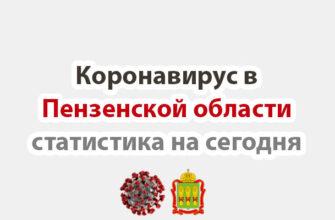 Коронавирус в Пензенской области статистика на сегодня