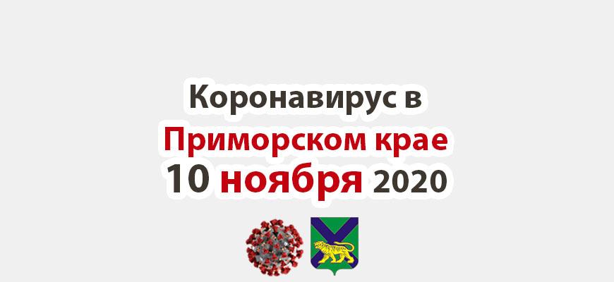 Коронавирус в Приморском крае 10 ноября 2020