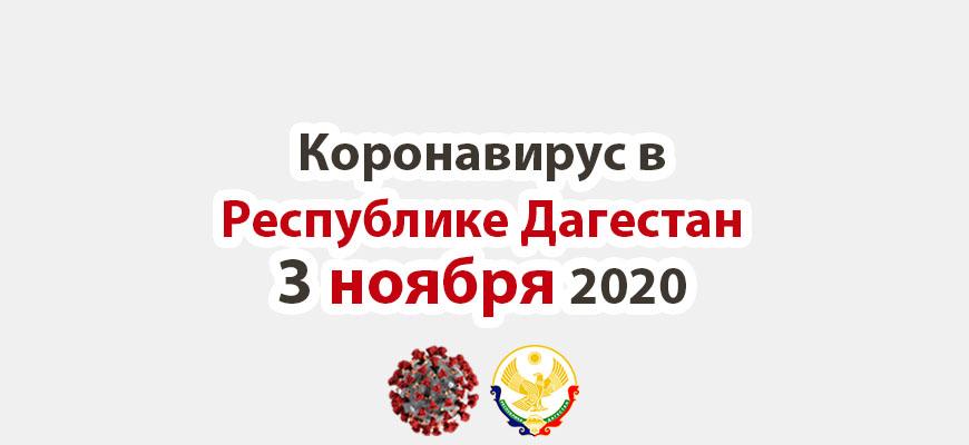Коронавирус в Республике Дагестан 3 ноября 2020