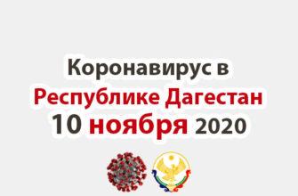 Коронавирус в Республике Дагестан 10 ноября 2020