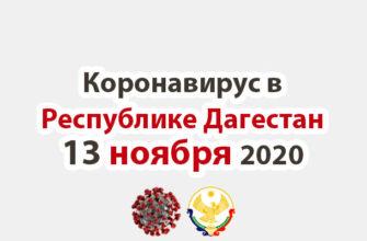 Коронавирус в Республике Дагестан 13 ноября 2020