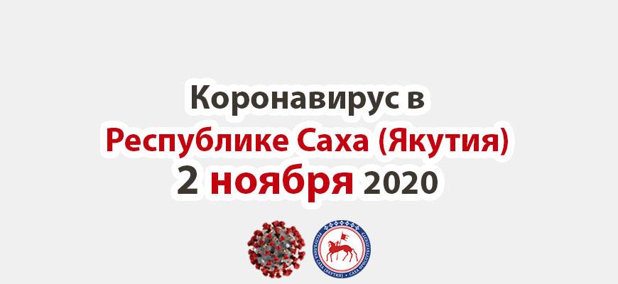 коронавирус в Республике Саха (Якутия) 2 ноября 2020