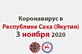 коронавирус в Республике Саха (Якутия) 3 ноября 2020