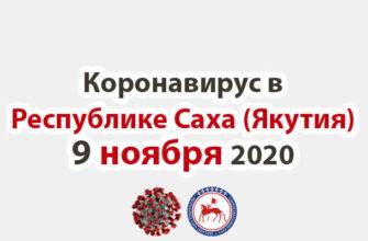коронавирус в Республике Саха (Якутия) 9 ноября 2020
