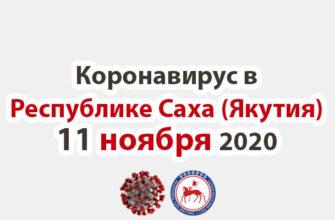 коронавирус в Республике Саха (Якутия) 11 ноября 2020